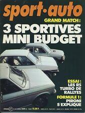 SPORT AUTO n°242 03/1982 RALLYE SUEDE 104ZS AVEC ENCART & POSTER
