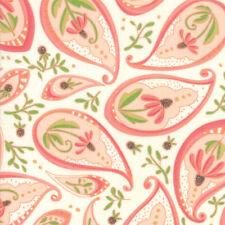 Moda Fabric Painted Meadow Coneflower Paisley Natural - Per 1/4 Metre