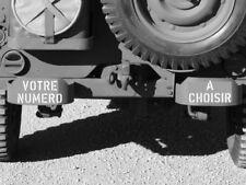 """POCHOIR REUTILISABLE CADUCET CHEMICAL CORPS 3/""""  ww2 jeep dodge gmc"""