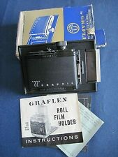 Graflex 22 Graphic film roll holder for 4x5 Cameras in box w/instructions