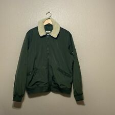 Old Navy Men's Puffer Jacket Green X-Large
