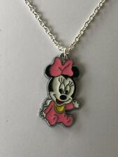 """CUTE Pink Baby Minnie Mouse Necklace 16"""" Chain In Pretty Gift Bag"""