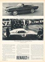 1963 1964 Renault Caravelle Alpine LeMans Race Advertisement Print Art Ad A69