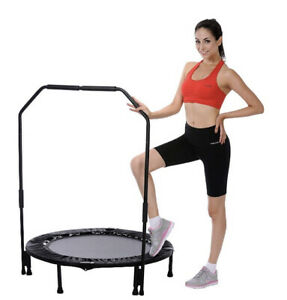 """40"""" Sunny Trampoline Bar Home Gym Mini Rebounder Workout Bouncing Exercise"""