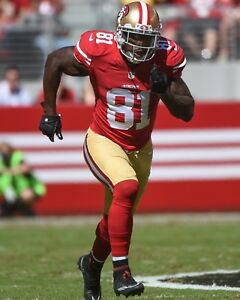 ANQUAN BOLDIN 8X10 PHOTO SAN FRANCISCO FORTY NINERS 49ers NFL FOOTBALL ACTION