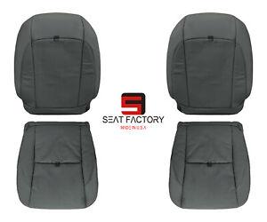 For 2007 - 2012 Lexus ES350 Fits Driver Passenger Leatherette Seat Cover Black