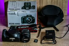 Canon EOS 600D 18MP Digital SLR Camera with EF-S 18-55mm Lens 32GB microSD