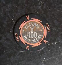 Vintage Playboy Hotel Casino Chip Atlantic City - $100 Chip (33 count)