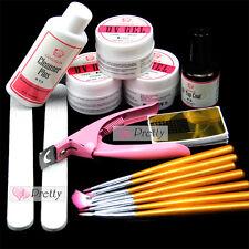 Coscelia Base UV Gel Starter Kit Nail Art Brush Topcoat Cleanser Plus Brush Set