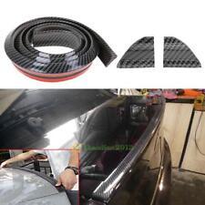 4.9ft/1.5M Universal Carbon Rubber Rear Roof Trunk Spoiler Wing Lip Trim Sticker