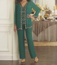 Bridesmaid Women's Mother of Bride Groom Wedding 3PC pant set suit plus 2X $199