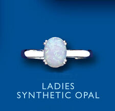 Opal Oval Solitaire Costume Rings