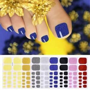 1 Sheet Colorful 100% Nail Polish Strips Manicure Pedicure Nail Art Sticker