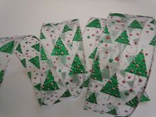 5yd Green Christmas Tree Wired Ribbon Wreath Gift Crafts Bow Holidays Decoration