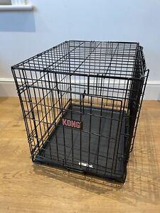 Kong Two Door Ultra-Strong Dog Crate Black Medium