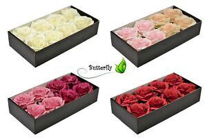 8 Rosenköpfe im Box Rosen Kunstblumen Seidenblumen künstliche Blumen Dekoration