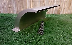300mm Stainless Steel Arc Waterfall Curved Pond Water Blade Koi