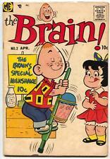 The Brain #2 1956- Pogo stick cover- FN-