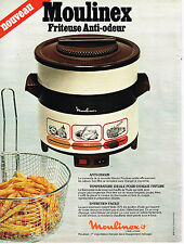 PUBLICITE ADVERTISING  1978    MOULINEX  friteuse anti-odeur