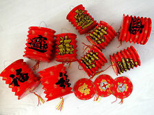 16 CHINESE MS RED GB LUCK PAPER LANTERN PARTY BIRTHDAY WEDDING NEW YEAR JAPANESE
