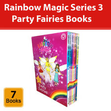 Rainbow Magic Party Fairies Collection Daisy Meadows 7 Books Set Series 15 to 21