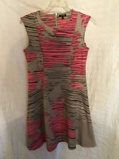 Apt.9 Sleeveless Dress Woman's Size M Gray And Pink Preowned