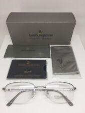 Vintage Daniel Swarovski Eyeglass Silver Frame Glasses 23KT GP Crystals Austria