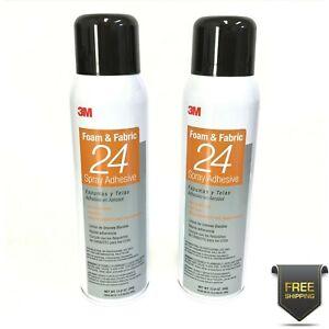 3M Foam Fabric 24 Spray Adhesive 2 Pack 13.75oz Bonding Glue Upholstery Crafts