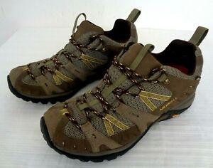 MERRELL Continuum Vibram Air Cushion Hiking Shoes Olive Women Sz 9 Running Trail