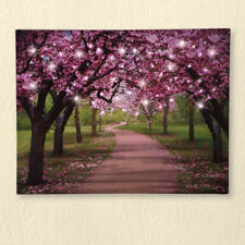 Wall Lighted Canvas Decoration Hanging Cherry Blossom Art LED Lights Home Gifts