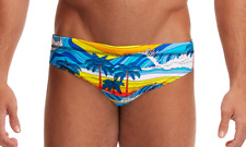 Funky Trunks Beach Bum Eco Recycled Zero Waste Sustainable Swimming Briefs