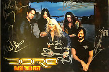 SIGNED WARLOCK DORO PESCH AUTOGRAPHED PHOTO CARD W/PIC
