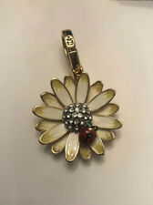 NWOT Juicy Couture Daisy With Ladybug Bracelet Charm - Yellow White Flower