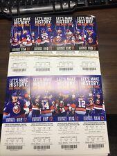 2015 NEW YORK ISLANDERS FULL PLAYOFF TICKET SHEET NASSAU LAST NHL GAME MINT