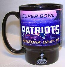 New England Patriots Commemorative 16 oz.Coffee Mug 2014 Super Bowl 49 Champions