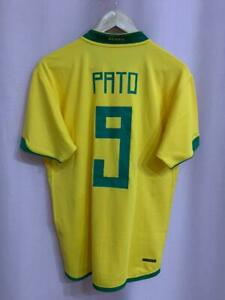 BRAZIL NATIONAL TEAM 2006/2008 HOME FOOTBALL SHIRT JERSEY CAMISETA PATO #9