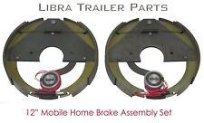"""New 12"""" mobile home trailer brake assembly pair set / 3.1"""" center bore - 21010"""