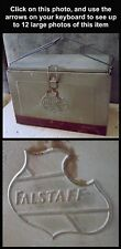 Rare Unusual Vintage Embossed Metal Falstaff Two-Color Beer Cooler Ice Chest Nr!