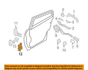 Infiniti NISSAN OEM 09-13 G37 Lock -Rear Door-Lower Hinge Left 82421JK000