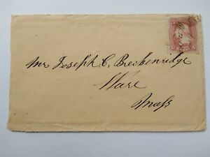 Iowa: Leon 1862 #65 Cover, Ms on Stamp, Decatur Co