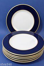 !!!!! Pagnossin Treviso 6 KuchenTELLER Rand blau gold Italy Keramik !!!!!!!!!!
