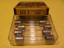 BUSS AGC 2 amp 250 volt GLASS FUSE