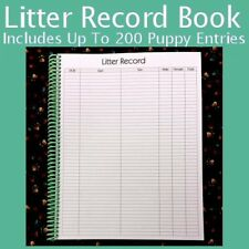 Litter Record Book - Keep detailed Puppy Litter information all in one place!!!!