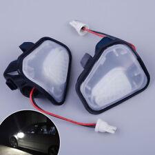 2pcs LED Side Mirror Puddle Lights No Error Fit For VW CC EOS Passat Scirocco