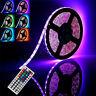 44Key IR Remote 5050 RGB LED Flexible Soft Strip Lighting Lamp Waterproof DC 12V