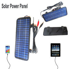 Smart 12V 4.5W Portable Car Boat Power Solar Panel Battery Backup Charger New
