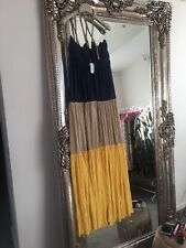 T Bags Los Angeles Rope Maxi Dress Beach Occassion Kaftan Grecian Yellow Bnwt M