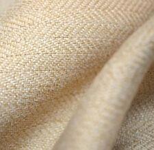 Ivory Herringbone Upholstery Fabric Bespoke
