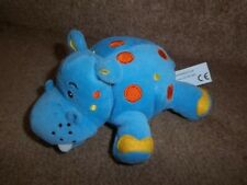 "6"" SAINSBURYS BLUE DOTTY SPOTTY HIPPO BABY SOFT TOY"