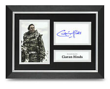 Ciaran Hinds Signed A4 Photo Framed Game of Thrones Memorabilia Autograph +COA